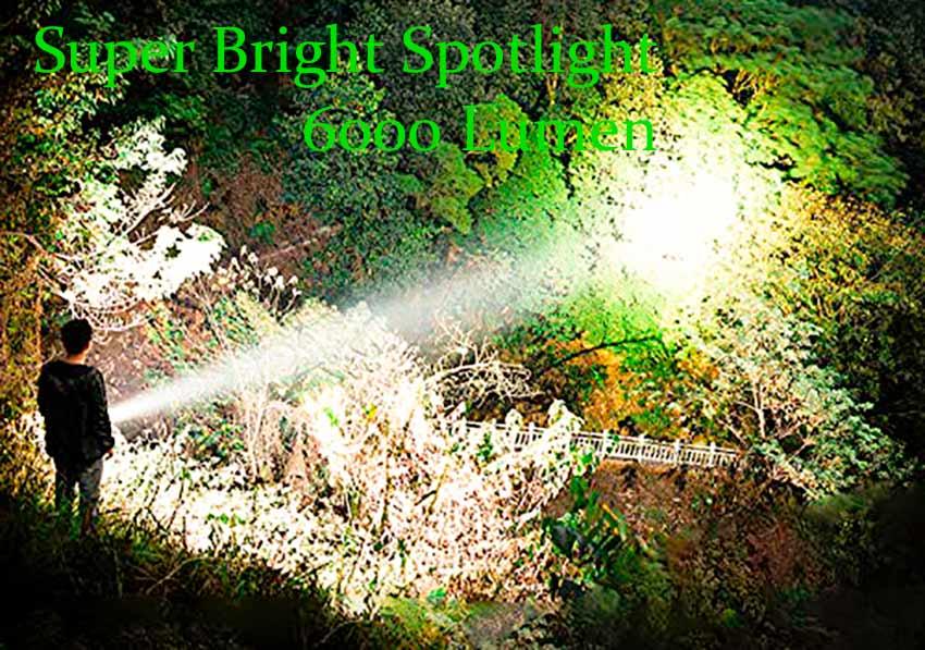Super Bright Spotlight 6000 Lumen